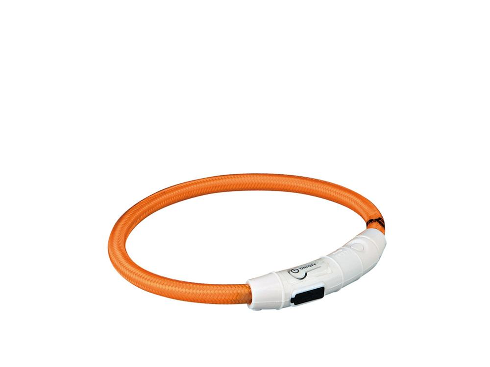 Leuchthalsband USB Flash orange