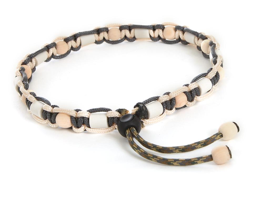 HundeNerd® GuteVibes EM-Halsband Zirbenholz anthrazit