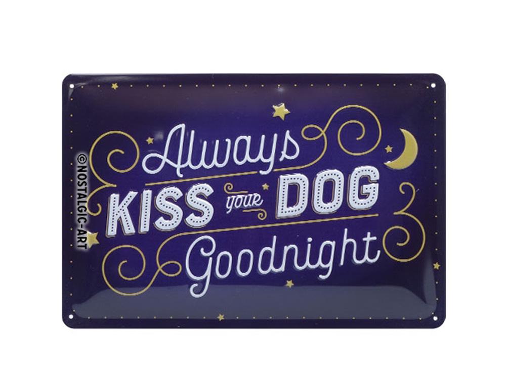 Pfotenschild Kiss your Dog 20x30 cm