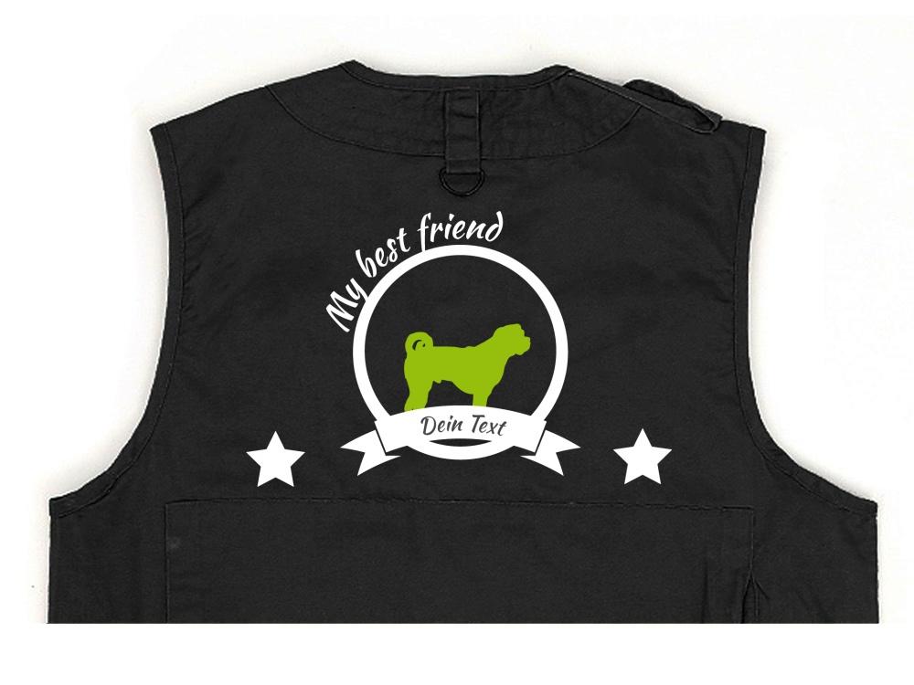 Bullmastiff Hundesport Weste schwarz Best Friend