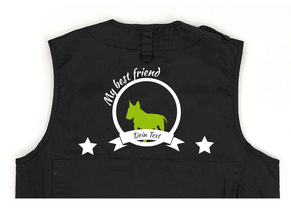 Bullterrier Hundesport Weste schwarz Best Friend
