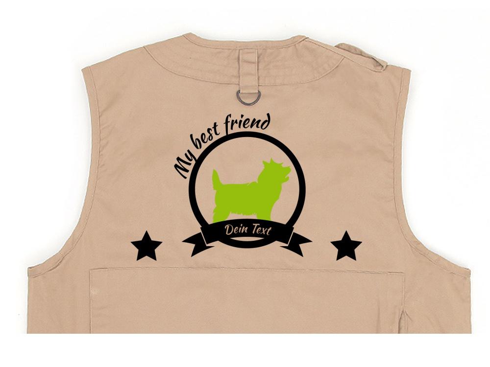 Cairn Terrier Hundesport Weste khaki Best Friend