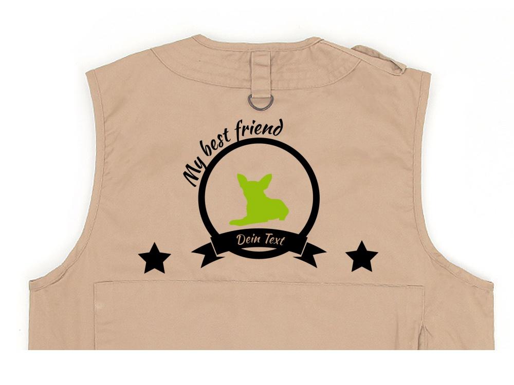 Chihuahua Hundesport Weste khaki Best Friend