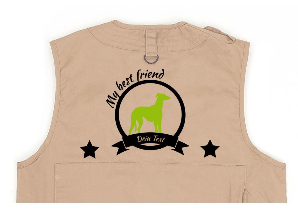 Whippet Hundesport Weste khaki Best Friend