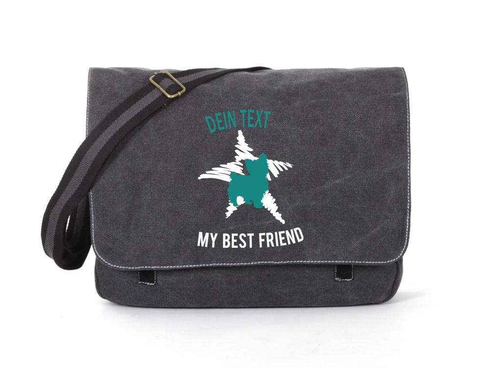 Yorkshire Terrier Canvas Tasche schwarz Dog Star