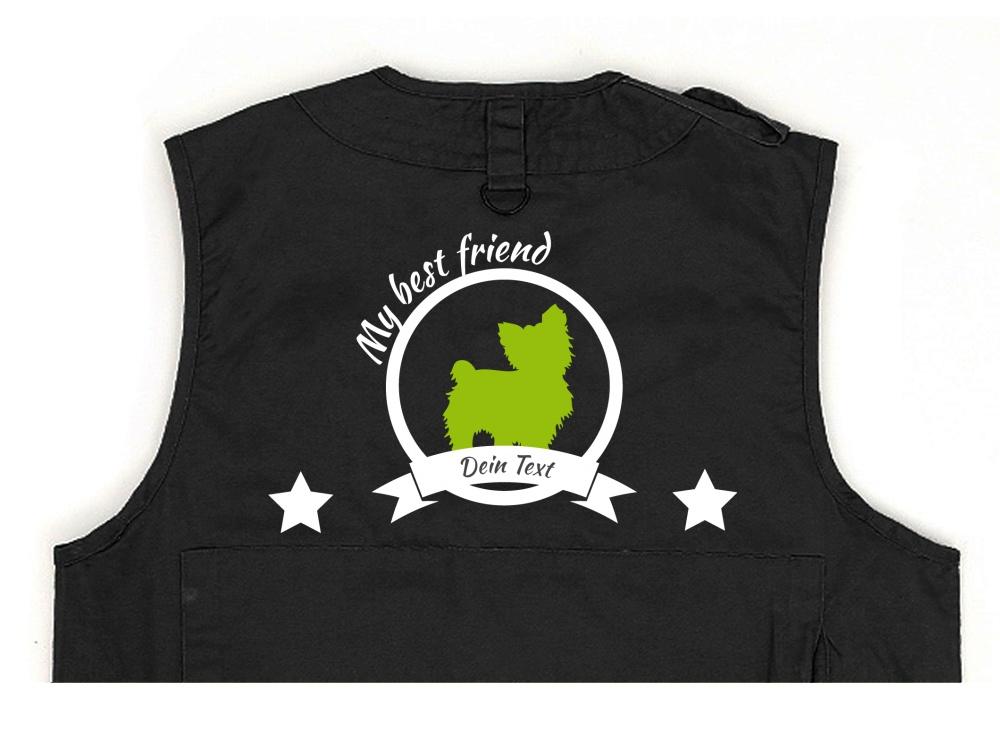 Yorkshire Terrier Hundesport Weste schwarz Best Friend