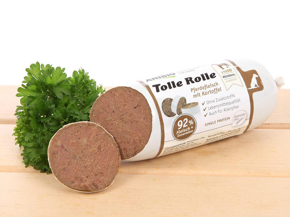 Anibio Hundefutter Hundewurst Pferdefleisch mit Kartoffel