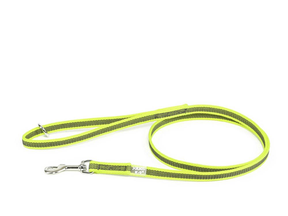Julius K9 Color & Gray gummierte Hundeleine neongelb