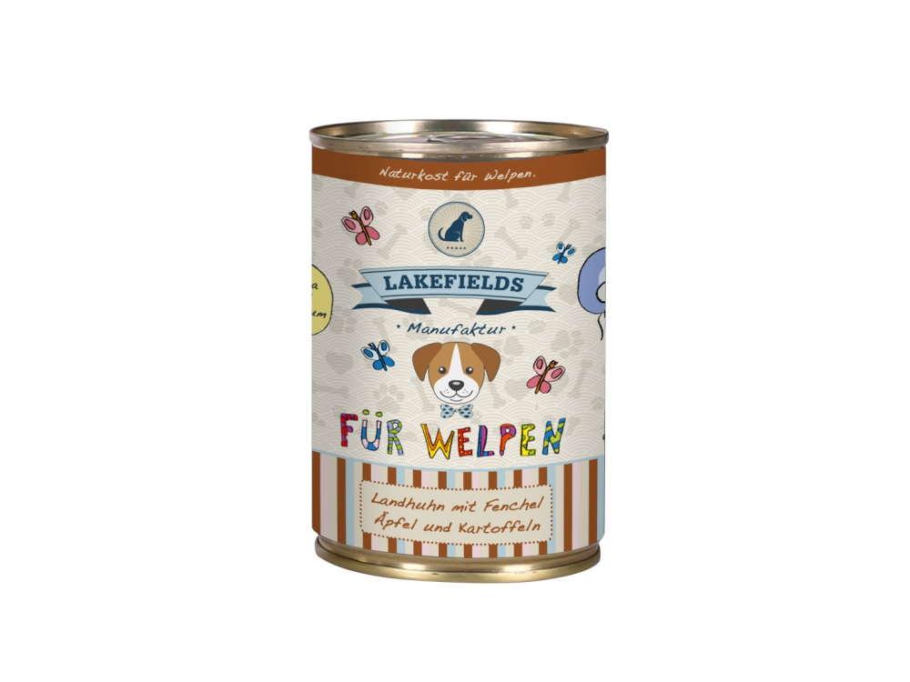 Lakefields Dosenfleisch-Menü Landhuhn für Welpen