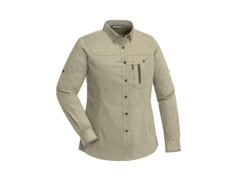 Pinewood® Tiveden Insektenschutz-Bluse für Damen Light Khaki