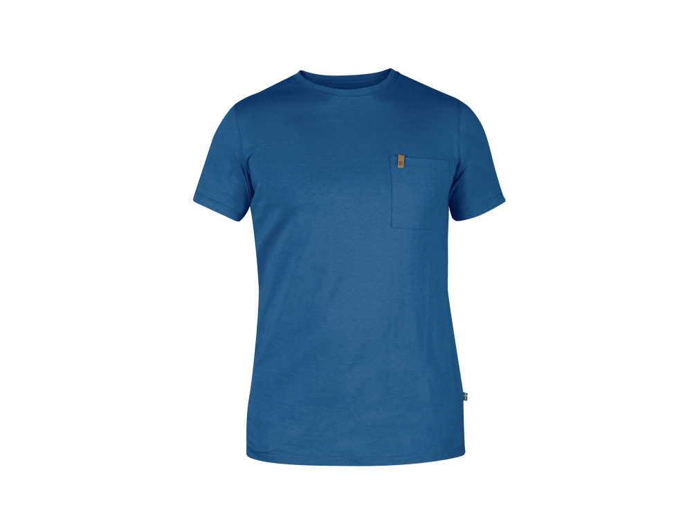 Fjäll Räven Övik Herren Pocket T-Shirt Uncle Blue