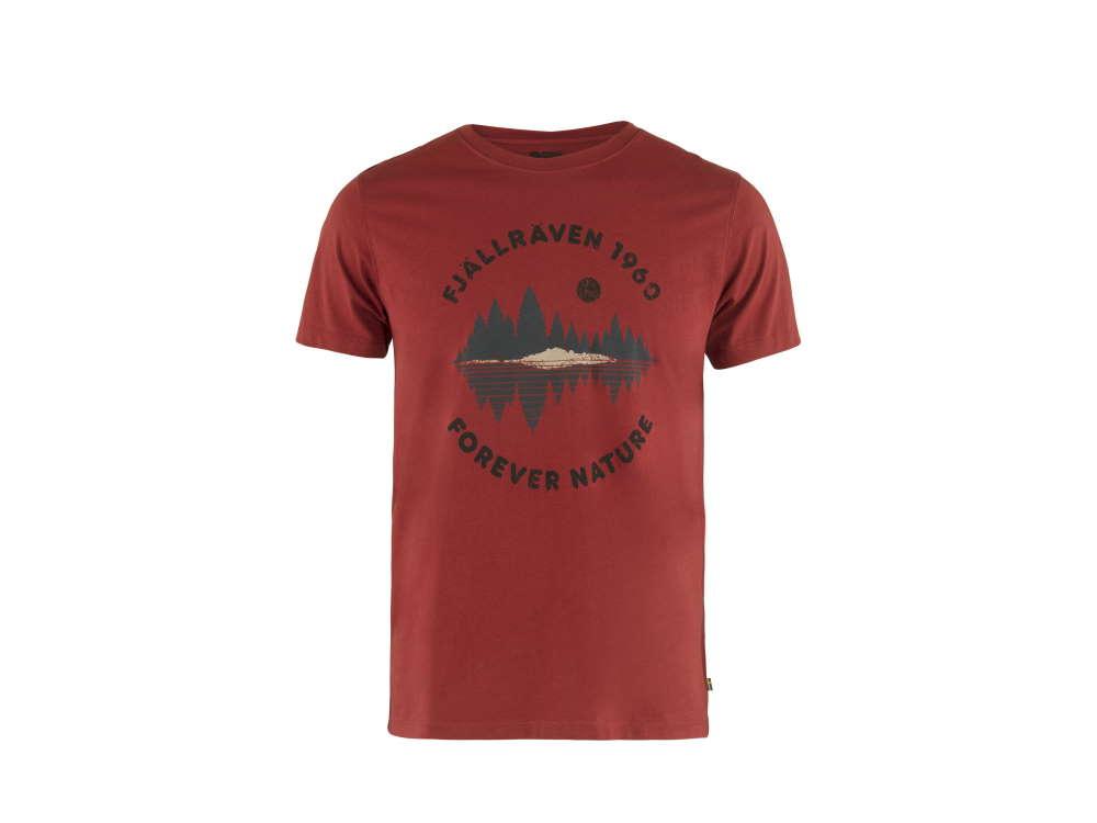 Fjäll Räven Forest Mirror Herren T-Shirt Deep Red