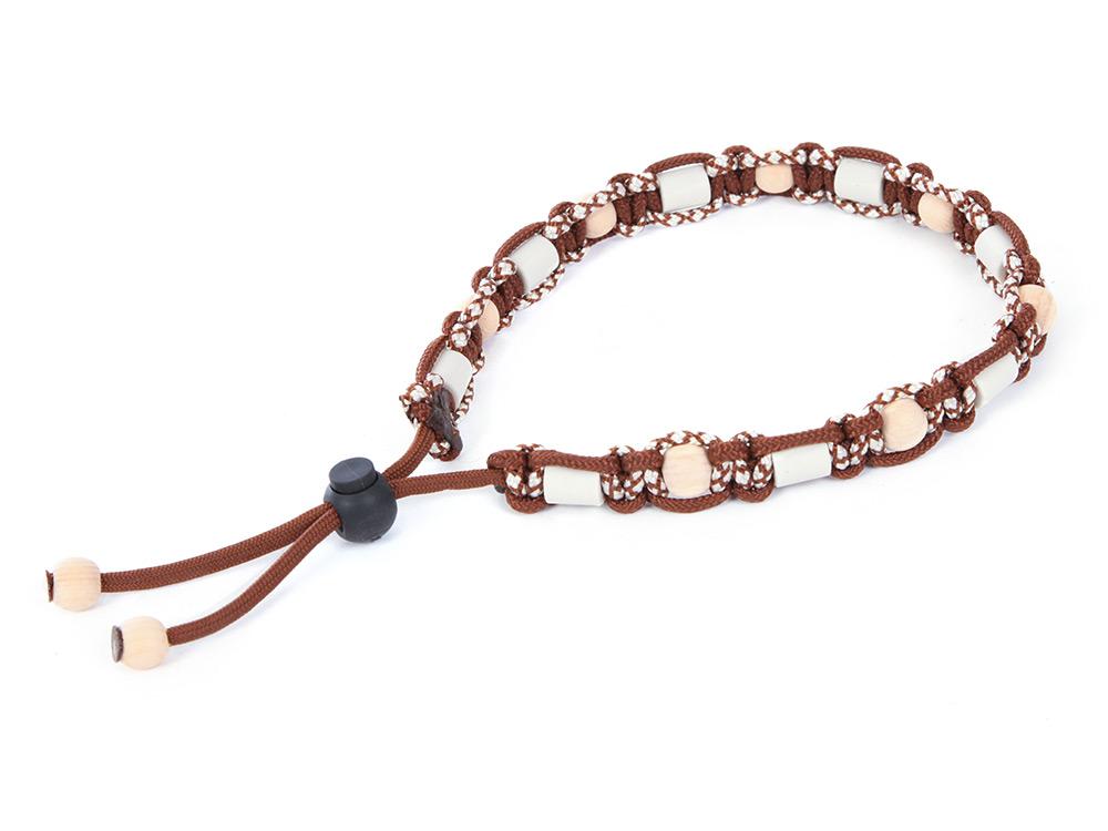 HundeNerd® GuteVibes EM-Halsband Zirbenholz braun