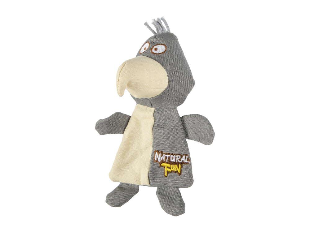 Natural Fun Hundespielzeug flacher Vogel