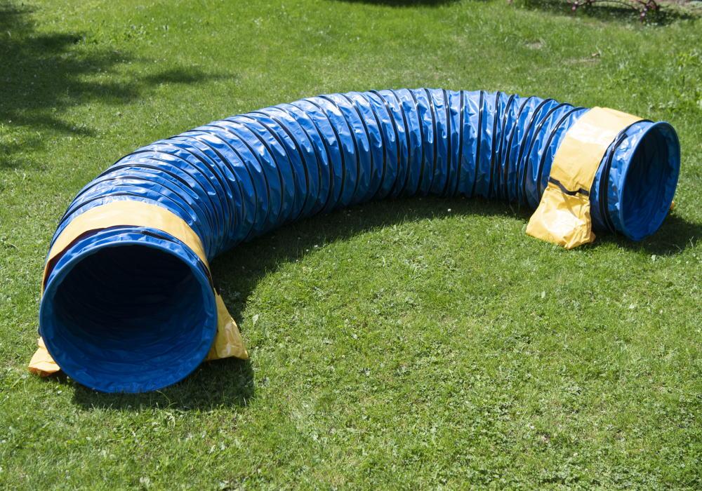 Profi Hunde Agility Tunnel FCI konform blau