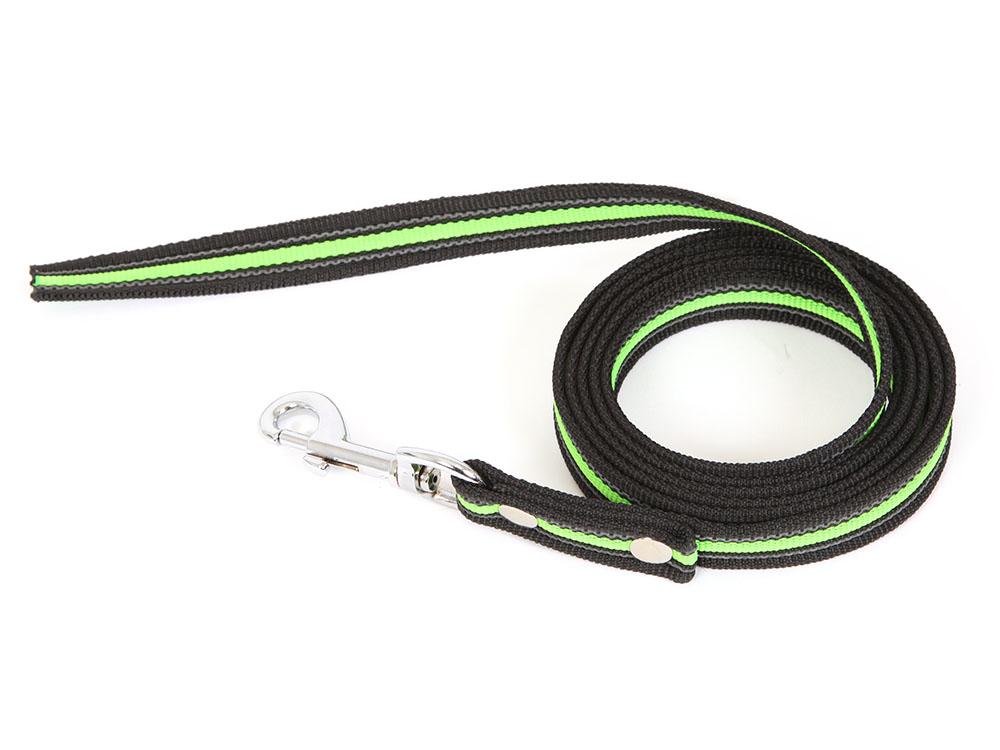 Gummierte Hundeleine ohne Handschlaufe 2 Meter neon