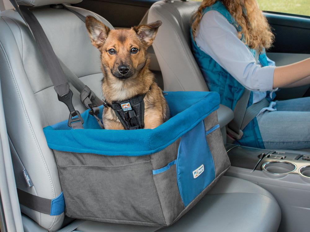 kurgo autositz f r hunde heather booster seat grau blau. Black Bedroom Furniture Sets. Home Design Ideas